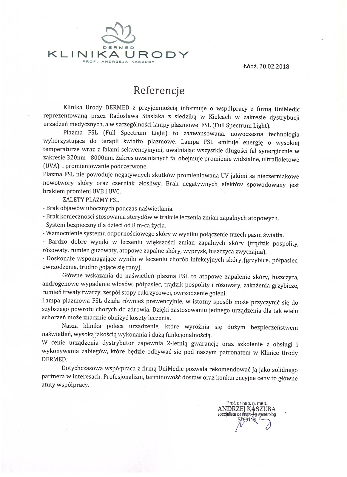 Unimedic_rekomendacja_FSL