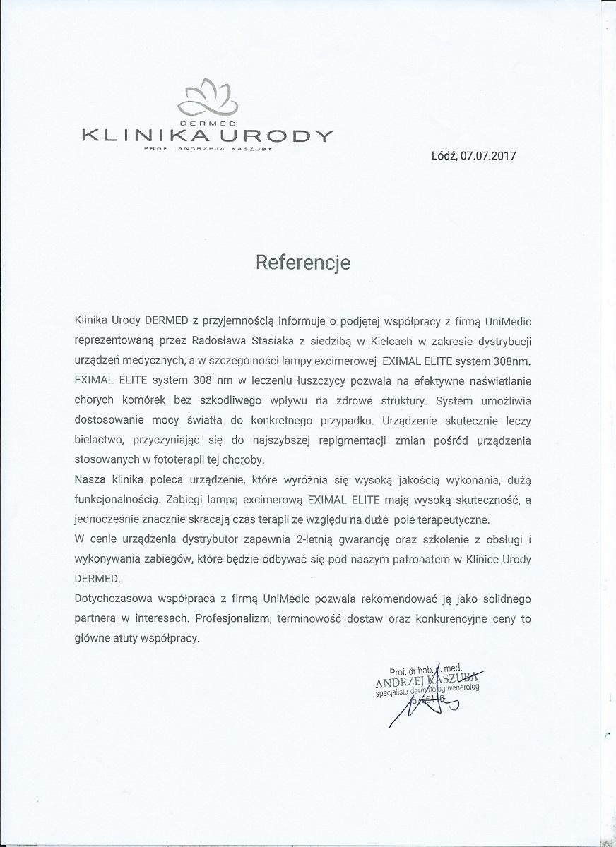 Unimedic_rekomendacja_excimer